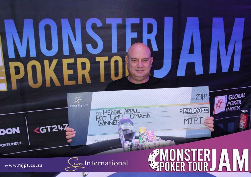 Your Time Square 2018 Pot Limit Omaha Champion is Hennie Appel.